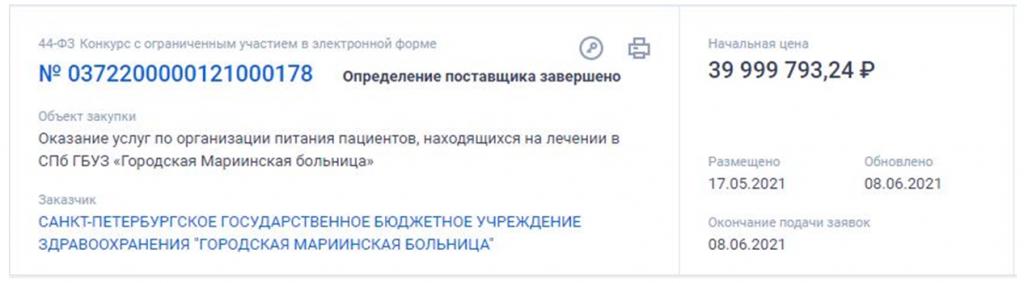 Контракт на 39,9 млн рублей в Центральном районе достался «Артис-Детское питание»
